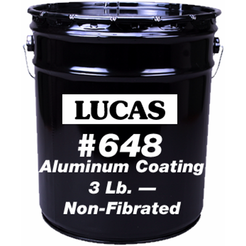 Lucas 648 Aluminum Roof Coating 3lb Non Fibrated 5 Gal
