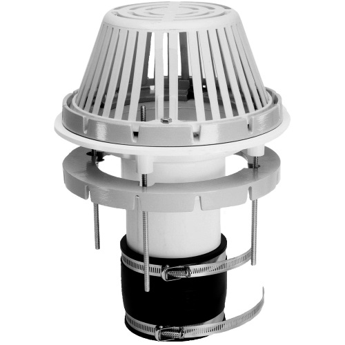 Portals Plus 61441 Abs Drain 4 In Alum Dome Por 61441