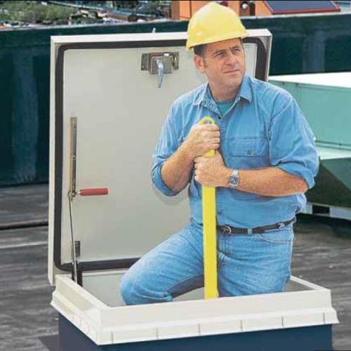 Bilco Lu 2 Ladderup Safety Post Steel Hot Dip Galvanized