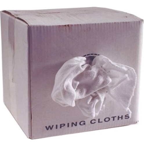 159472ba9af Wiping Rags - Economy Grade - White T-Shirt 50 lb. Box