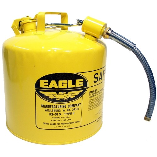 Safety Gas Can >> Eagle U2 51 Sy 5 Gal Safety Gas Can Type Ii