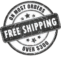 free shipping on most orders over $300