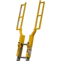 AES Raptor GrabSafe Portable Aluminum Ladder Extension LRE-000-13 ladder extension, ladder walk through, aes raptor, ladder safety,
