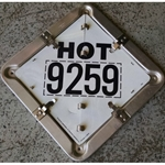 "*Clearance* DOT Hot 3257"" Placecard"