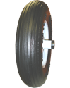 "4.80/4.00-8"", 6"" Hub, 1"" Bushing, Ribbed Tread, Flat Free"