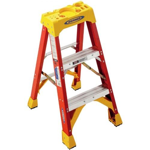 Werner 6200 Series Step Ladder 3 Ft Fiberglass