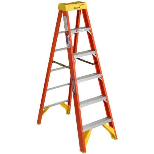 Werner 6200 Series Step Ladder 6 Ft Fiberglass