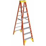 Werner 6208 Step Ladder, 8 ft. - Fiberglass