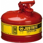 Justrite 7125100, Type I Red Gas Can - 2.5 Gal.