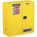 Justrite 893000 Safety Cabinet, 2 Door, 30 Gal, - Manual Close