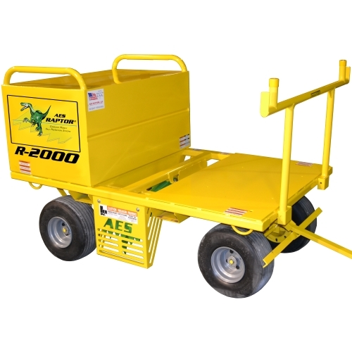 AES Raptor 2000 Cart w/20 cu. ft. Job Box AES TriRex Mobile Fall Protection System