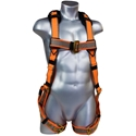 Malta Dynamics B2004-X Warthog Harness, Tongue Buckle Legs (XXXL) w/X Pad