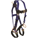 FallTech 7017 Contractor Harness, Back & Side D-rings, MB Legs & Chest, UniFit
