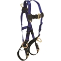 FallTech 7018 Contractor Harness, Back & Side D-rings, TB Legs & MB Chest, UniFit
