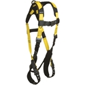 FallTech 7021B Journeyman Flex Harness, 1 D-ring, TB legs and QC Chest, Unifit