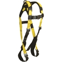 FallTech 7021BQC Journeyman Flex Harness, 1 D-ring, Dorsal Quick Connect Legs and Chest, Unifit