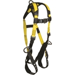 FallTech 7023B Journeyman Flex Harness, 3 D-ring, TB Legs, QC Chest, Unift