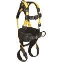 FallTech 7035BM Journeyman Flex Harness w/ Belted Construction, 3-Ds, TB legs, QC Chest, Medium