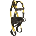 FallTech 7035BQCM Journeyman Flex Harness w/ Belted Construction, 3-Ds, QC legs, QC Chest, Medium