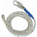 FallTech 8200 100 ft. x 5/8 in. Premium Lifeline, 1 Snap Hook and Braid End