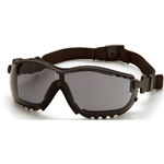 Pyramex GB1820ST V2G Safety Glasses-Black Frame Gray Anti-Fog Lens