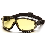 Pyramex GB1830ST V2G Safety Glasses-Black Frame Amber Anti-Fog Lens