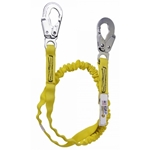 SurfaceTech Barrier Web Shock Lanyard, 6Ft. Double Leg, Snap Hook and Rebar Hook Ends