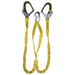 Guardian 21215 Double Leg Internal Shock Lanyard w/ High Strength Rebar Hooks