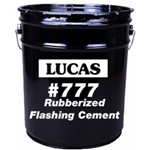 Lucas 777 Rubberized Flashing Cement, Wet/Dry, Utility Grade, 5 gal