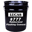 Lucas 777 Rubberized Flashing Cement, Wet/Dry, Utility Grade, 3 gal