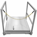 "Milcor M-1 Roof Hatch 30"" x 36""  w/ Safety Rail and Chain"