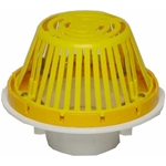 *Clearance* PVC Roof Drain, Aluminum Dome 6 in.