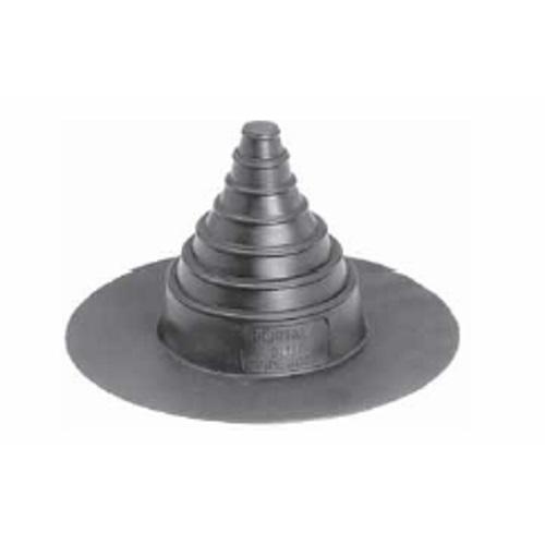Portals plus medium black neoprene pipe boot