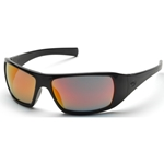 Pyramex SB5645D Goliath Safety Glasses-Black Frame Ice Orange Lens