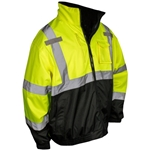 Radwear SJ210B Three-In-One Deluxe Hi-Viz Green Safety Bomber Jacket
