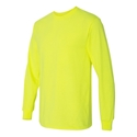Hi Vis Safety Green Long Sleeved T-Shirt