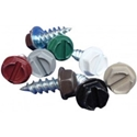 U.S. Aluminum #8 x 1/2 in. Painted Gutter Zip Screw Fasteners, 100/bag