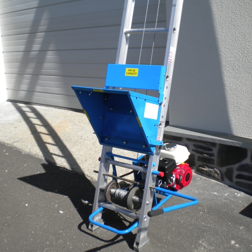 Safety Hoist Mh 123a B Amp S Engine 200 Lb Capacity Ladder
