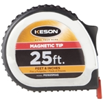 Keson PG1825VMAG 25 ft. PowerGlide Measure Tape with Magnetic Tip