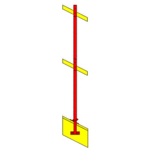 Clearance Residential Guardrail Gable Rake System 344