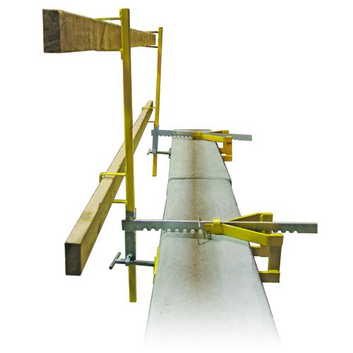 Acro parapet wall guardrail system bigrocksupply