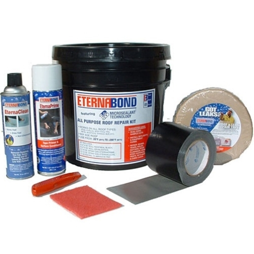 EternaBond All Purpose Roof Repair Kit Includes everything you need to fix leaking roofs, skylights, gutters, or flashings, EternaBond All Purpose Roof Repair Kit