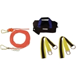 FallTech 777100 100 Ft. Checkline Horizontal Lifeline Kit fall arrest, horizontal lifeline, 4-man horizontal lifeline
