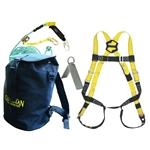 Guardian 00815 Bucket of Safe-Tie Roofing Kit w/Upgraded Harness and Bag Guardian safety kit, guardian bag of safety kit, guardian bag of safety roofers kit, safe-tie, guardian bucket of safe-tie