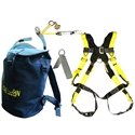 Guardian 00815 Bucket of Safe-Tie Premium Roofing Kit w/XL Harness and Bag Guardian safety kit, guardian bag of safety kit, guardian bag of safety roofers kit, safe-tie, guardian bucket of safe-tie
