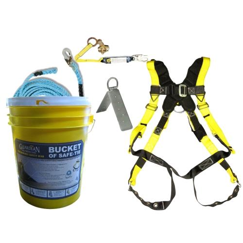 Guardian 00815 Bucket of Safe-Tie Premium Roofing Kit w/XL Harness  GUA-00815-3XL   Big Rock SupplyBig Rock Supply