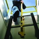 Bilco LU-1 LadderUP Safety Post - Steel, Safety Yellow Powder Coat bilco, bilco lu-1, ladder-up safety post, bilco roof hatch, safety post, bilco ladderup