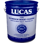 Lucas 608 Aluminum Roof Coating Non-Fibrated 5 GAL Lucas #608 Aluminum Roof Coating Non-Fibrated, Designed to provide a reflective surface for roofs, metal buildings, tanks and  mobile homes
