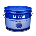 Lucas 771 Asphalt Plastic Roof Cement Premium 3 GAL Lucas #771 Asphalt Plastic Roof Cement Premium 3 GAL, Used to install, repair or rebuild roof flashings at parapet walls, gravel stops, stacks, vents, monitors and similar applications