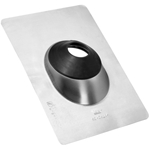 Oatey 12945 Aluminum Base Multi-Size Roof Flashing 1.5-3 in. Oatey 12945 Aluminum Base Multi-Size No-Calk Roof Flashing 1.5-3 in.